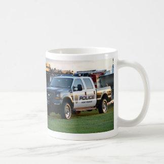 fort pierce police department pickup truck coffee mug