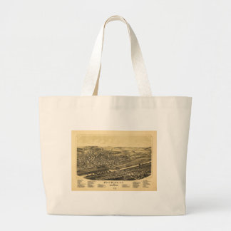 Fort Plain New York and Nelliston (1891) Large Tote Bag