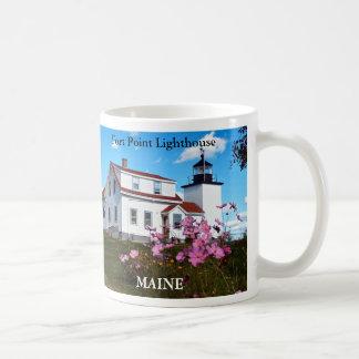 Fort Point Lighthouse, Maine Mug