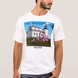 Fort Point Lighthouse, Maine T-Shirt
