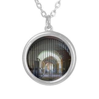 Fort Pulaski Jail Silver Plated Necklace