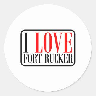 Fort Rucker Alabama Classic Round Sticker