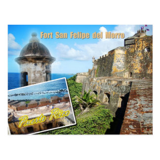 Fort San Felipe del Morro Puerto Rico Postcard