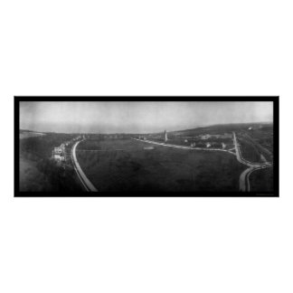 Fort Sheridan, Illinois Aerial View Photo 1908 Poster