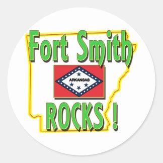 Fort Smith Rocks ! (green) Classic Round Sticker