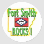 Fort Smith Rocks ! (green) Stickers