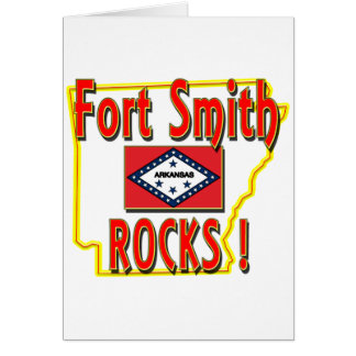 Fort Smith Rocks ! (red) Card