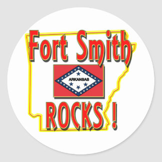 Fort Smith Rocks ! (red) Classic Round Sticker