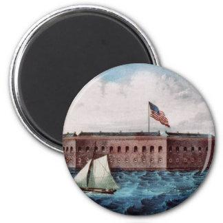 Fort Sumter 2 Inch Round Magnet