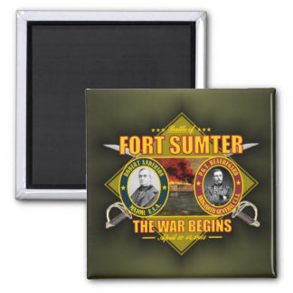 Fort Sumter 2 Inch Square Magnet