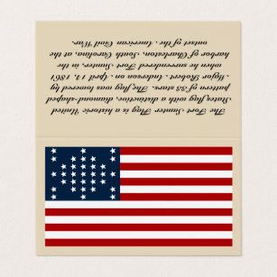 Historic flags business cards templates zazzle fort sumter flag business card tent style colourmoves