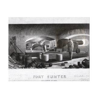 Fort Sumter, Interior View of Three Gun Battery Canvas Print