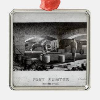 Fort Sumter, Interior View of Three Gun Battery Metal Ornament