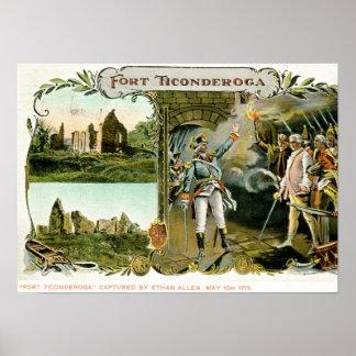 Fort Ticonderoga, Ethan Allen NY 1907 Vintage Poster