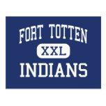 Fort Totten - Indians - High - Fort Totten Postcard