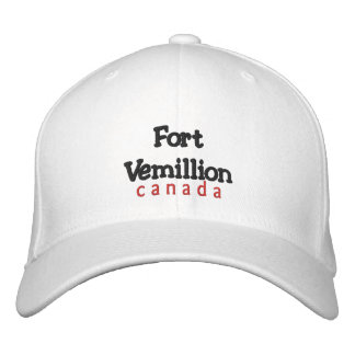 Fort Vemillion, Canada Hat Embroidered Baseball Cap