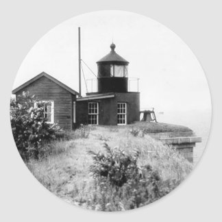 Fort Wadsworth Lighthouse Classic Round Sticker
