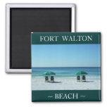 Fort Walton Beach chairs vacation magnet souvenir