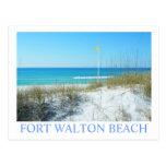 FORT WALTON BEACH, FL - bandera de playa amarilla Postales