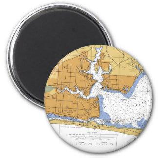Fort Walton Beach, FL Nautical Chart Magnet