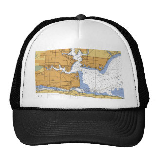 Fort Walton Beach, FL Nautical Chart Trucker Hat