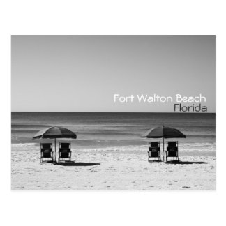 Fort Walton Beach Florida Chairs Black & White Postcard