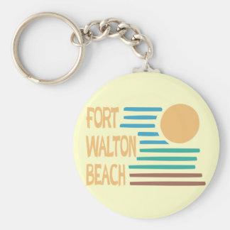 Fort Walton Beach geometric design Keychain
