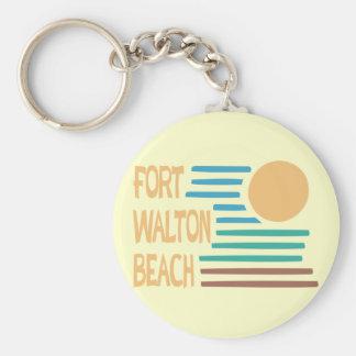 Fort Walton Beach geometric design Key Chain