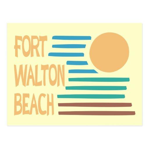 Fort Walton Beach geometric design Postcard