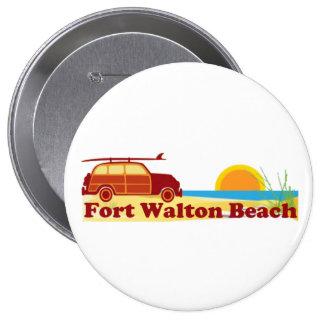 Fort Walton Beach. Pin Redondo De 4 Pulgadas