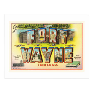 Fort Wayne #2 Indiana IN Vintage Travel Souvenir Postcard