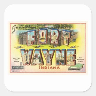 Fort Wayne #2 Indiana IN Vintage Travel Souvenir Square Sticker