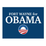 FORT WAYNE for Obama custom your city personalized Postcard