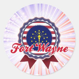 Fort Wayne, IN Round Stickers
