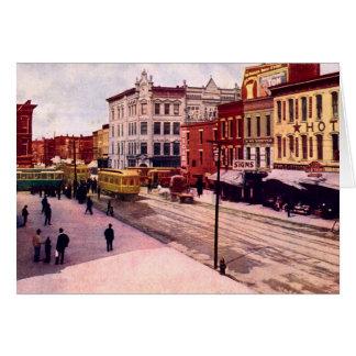 Fort Wayne, Indiana Calhoun and Main Streets Greeting Card