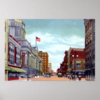 Fort Wayne Indiana Calhoun Street Poster