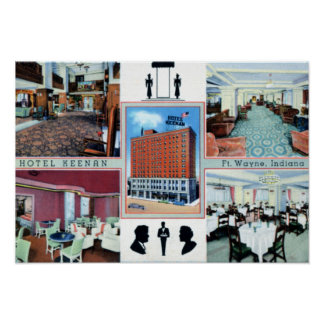 Fort Wayne Indiana Hotel Keenan Poster