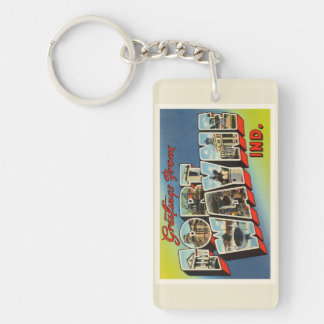 Fort Wayne Indiana IN Old Vintage Travel Souvenir Keychain