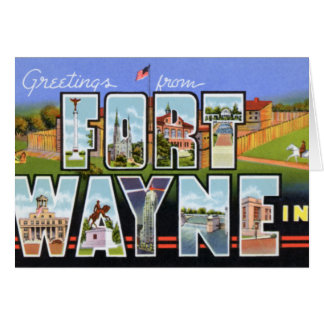 Fort Wayne Indiana Large Letter Greetings Cards
