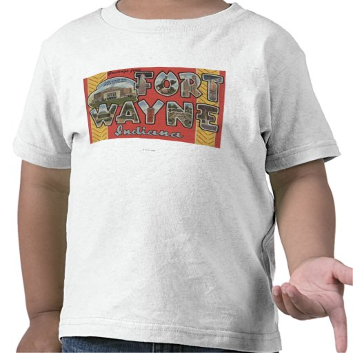 Fort Wayne, Indiana - Large Letter Scenes Tshirt