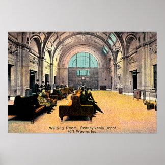 Fort Wayne, Indiana Pennsylvania Depot 1915 Poster