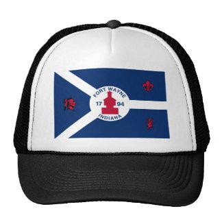Fort Wayne, Indiana, United States flag Trucker Hat