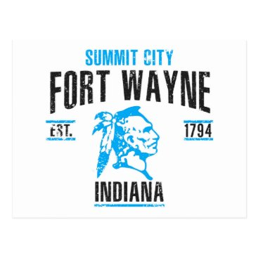USA Themed Fort Wayne Postcard