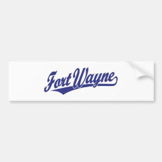 Fort Wayne script logo in blue Bumper Stickers