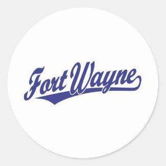 Fort Wayne script logo in blue Sticker