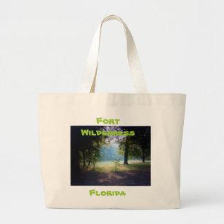 """FORT WILDERNESS FLORIDA TOTE"" Fort Large Tote Bag"
