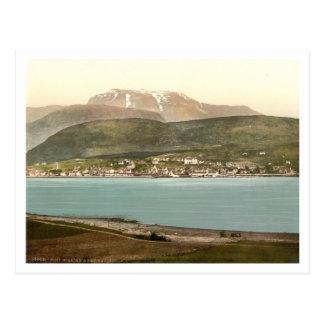 Fort William and Ben Nevis, Inverness, Scotland Postcard