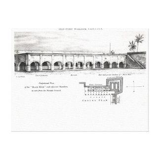 Fort William viejo, Calcutta Impresiones En Lona Estiradas
