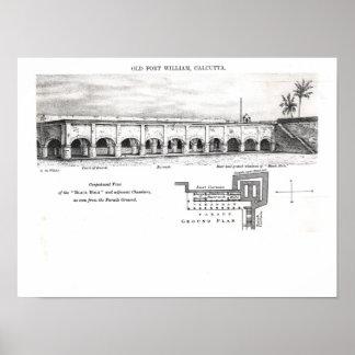 Fort William viejo, Calcutta Póster