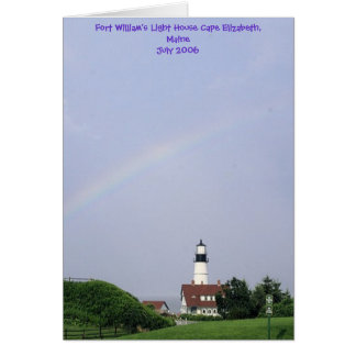 Fort William's Light House... Card
